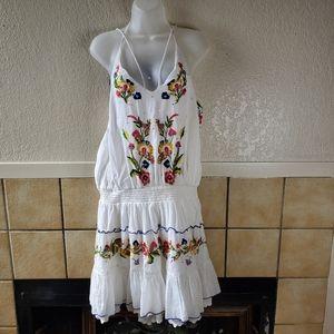 Boston Proper Dresses - Boston proper embellished halter dress GUC Size XL